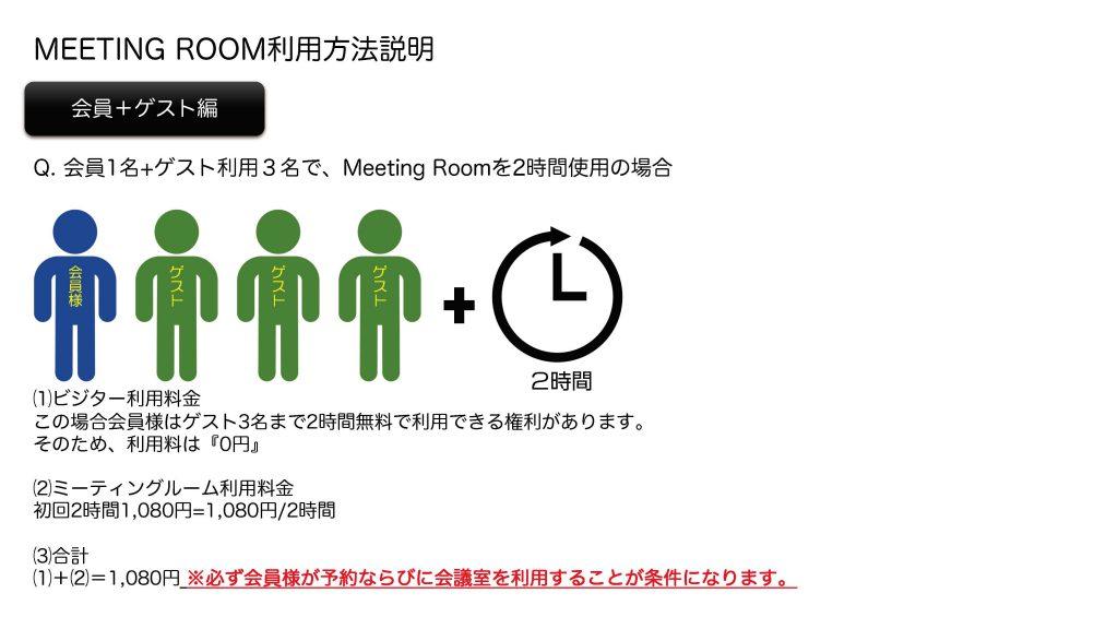 Meeting Room利用説明について 3